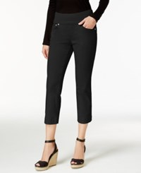 Jag Petite Echo Cropped Pull On Pants Black