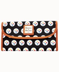 Dooney And Bourke Pittsburgh Steelers Clutch Black