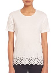 The Kooples English Embroidered T Shirt White