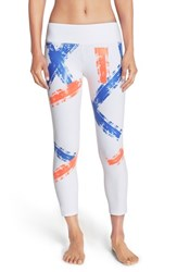 Women's Splits59 'Nova Expression' Performance Capris White Spectra Electric Blue