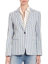 Frame Striped Button Blazer Terrace