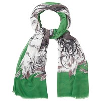 White Stuff Hello Deer Scarf Green