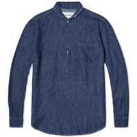 Shawl Zip Shirt 7Oz Blue Denim
