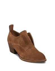 Dolce Vita Savannah Suede Oxfords Dark Saddle