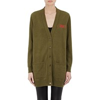 Givenchy Love' Embroidered Long Cardigan Green