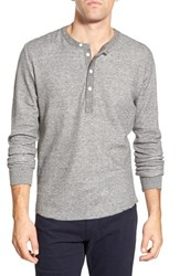 Men's Grayers Double Layer Thermal Henley Grey Heather Off White