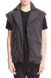Drifter Men's 'Matrix' Moto Vest Charcoal