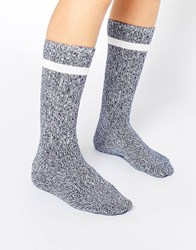 Monki Socks In Marl Bluemelange