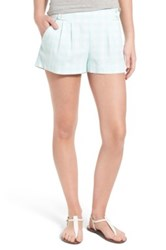 Vineyard Vines 'Dayboat Gingham Whales' Pleated Cotton Shorts Blue