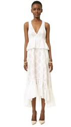 Bcbgmaxazria Tilda Dress White Combo