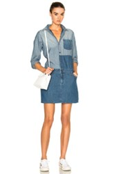 Current Elliott Whitney Coverall Dress In Blue