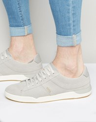 Hugo Boss Boss Orange Perf Suede Trainers Grey