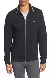 Lacoste Pique Jersey Full Zip Track Jacket Black