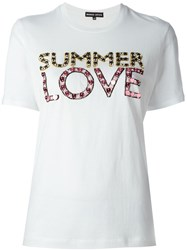 Markus Lupfer 'Summer Love' Embellished T Shirt White