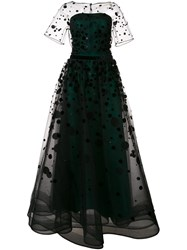 Carolina Herrera Polka Dot Ball Gown Black