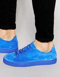 Selected Homme Dylan Suede Trainers Blue