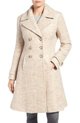 Ivanka Trump Women's Double Breasted Fit And Flare Coat
