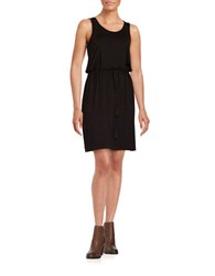 Lord And Taylor Drawstring Dress Black