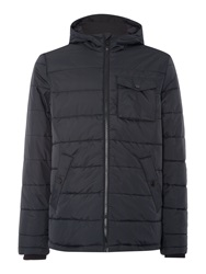 Lyle And Scott Padded Casual Fulll Zip Parka Coat Black