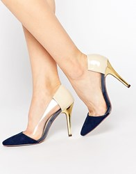 Paper Dolls Heeled Shoes Navy