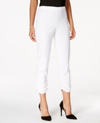 Styleandco. Style And Co. Ruched Cuff Cropped Skinny Pants Only At Macy's Bright White