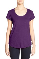 Petite Women's Eileen Fisher Organic Cotton Scoop Neck Tee African Violet