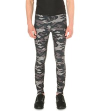 Bjorn Borg Camouflage Print Jersey Tights Black