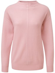 Pure Collection Susan Slouch Sleeve Jumper Soft Pink