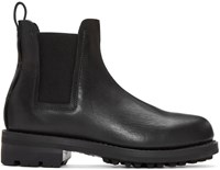 Feit Black Leather Chelsea Boots