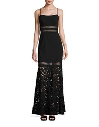 Decode 1.8 Crocheted Fit And Flare Gown Black