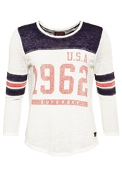 Superdry Usa 1962 Burnout Varsity T Shirt White