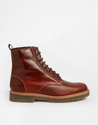 Pull And Bear Pullandbear Boots With Lace Up Burgandy