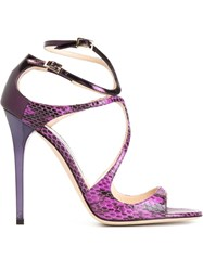 Jimmy Choo 'Lance' Sandals Pink And Purple