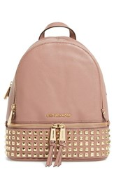 Michael Michael Kors 'Small Rhea' Studded Backpack Pink