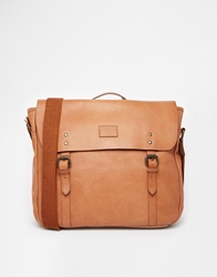 Jack Wills Portbury Leather Satchel Tan