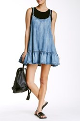 One Teaspoon Pinkie Chambray Dress Blue