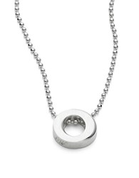 Alex Woo Circle Sterling Silver Pendant Necklace