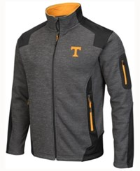 Colosseum Men's Tennessee Volunteers Double Coverage Ii Jacket Charcoal Black