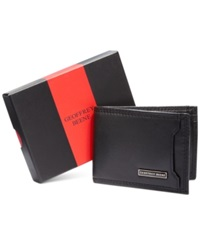 Geoffrey Beene Mead Front Pocket Gift Boxed Wallet Black