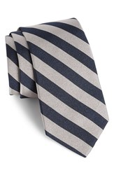 Gitman Brothers Vintage Men's Stripe Silk Tie Grey