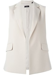 Theory Open Front Waistcoat Nude And Neutrals