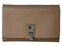 Michael Kors Miranda Medium Wallet With Shoulder Strap Dark Taupe Cross Body Handbags