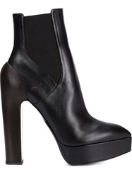 Vera Wang High Heel Platform Boots Black