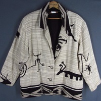 Painted Pony Tapestry Jacket Kokopelii Cave By Retromondestudio