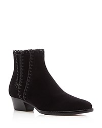 Michael Kors Collection Presley Whipstitched Low Heel Booties Black