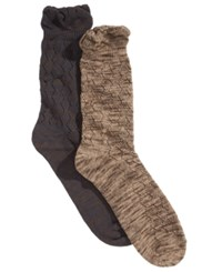 Gold Toe Women's 2 Pk. Crochet Slub Boot Socks Oatmeal