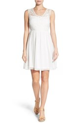 Women's Dex Lace Bodice Fit And Flare Dress