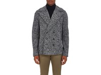 Atm Anthony Thomas Melillo Men's Melange Cotton Blend Fleece Peacoat Black