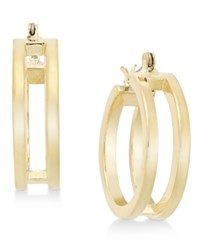 Alfani Gold Tone Small Double Hoop Earrings Only At Macy's