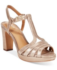Clarks Artisan Women's Jenness Night Dress Sandals Women's Shoes Champagne Leather